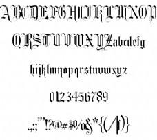 花式卡文本字体