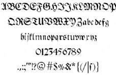 布瑞特科夫哥特字体的字体