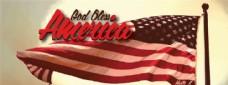 上帝保佑美国字体