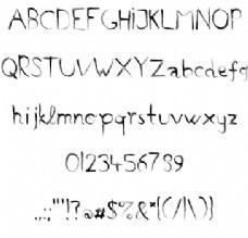 手工制作的字体