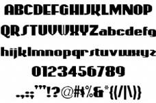 过山车海报字体