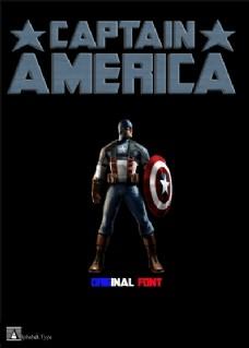 美国队长的字体
