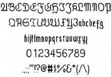 哥特体现代字体