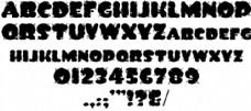 把墨水泼字体