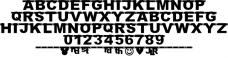 JLR生日横幅字体