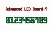 先进的LED board-7字体