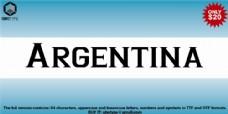 阿根廷的字体