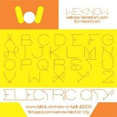 电动城市字体