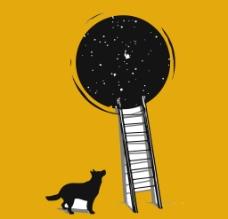 创意体恤狗狗星空图片