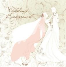 婚礼背景矢量插画