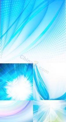 蓝色科技背景矢量图