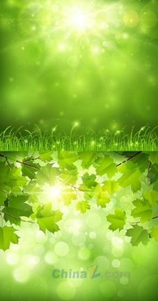 绿色自然风景矢量图设计