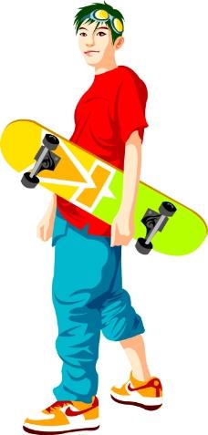 工业设计滑板手绘图