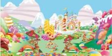 糖果世界矢量图