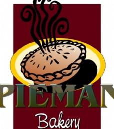 Pieman_Bakery logo设计欣赏 Pieman_Bakery饮料品牌LOGO下载标志设计欣赏