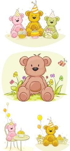 卡通小熊矢量素材下载