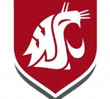 Washington_State_Cougars logo设计欣赏 Washington_State_Cougars知名学校LOGO下载标志设计欣赏