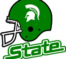 Michigan_State_Spartans_Helmet logo设计欣赏 Michigan_State_Spartans_Helmet运动赛事标志下载标志设计欣赏