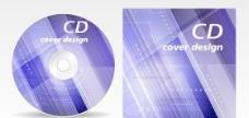 科技光芒CD背景矢量图