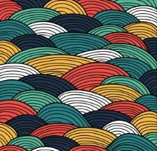 抽象彩色波纹背景
