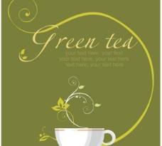 茶海报背景03矢量图