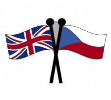 Czech_Republic__and__Union_Jack_Flag logo设计欣赏 Czech_Republic__and__Union_Jack_Flag工厂LOGO下载标志设计欣赏