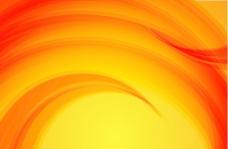 波浪状的橙色背景