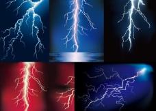 闪电自然现象矢量图