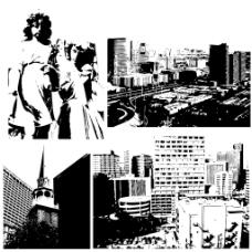 城市怀旧图形背景