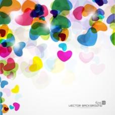 摘要背景与丰富多彩的心和爱eps10矢量插画