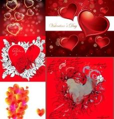 浪漫爱情心型矢量图