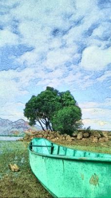 蜡笔风景画