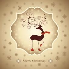 美丽的圣诞贺卡02矢量
