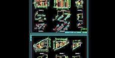 19层办公楼卫生间大样及系统图