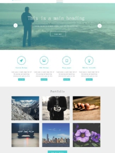 孤独的背景HTML5摄影模板