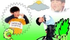 """""""成长日记""""免费PSD儿童模板(四月)"""