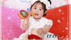 2010新年儿童台历PSD模板(九月)