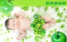可爱的水果宝宝PSD素材