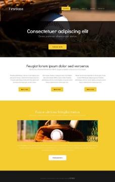 棒球比赛HTML5网页模板