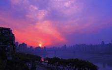 重庆晚霞图片