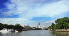 城市湖泊美丽风景图片