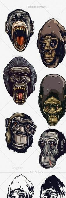 猩猩 纹身图案图片