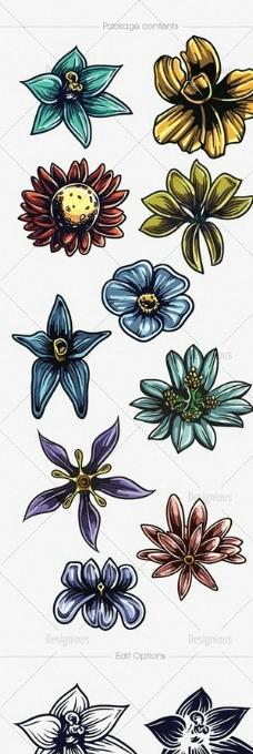花朵 纹身图案图片