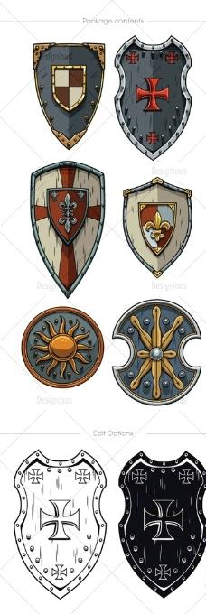 盾牌 纹身图案图片