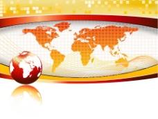 世界地图教育PPT模板