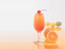橙汁生活主题PPT模板