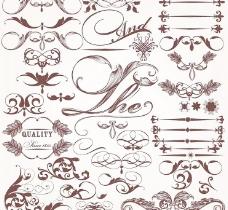 欧式花纹背景底纹设计图片