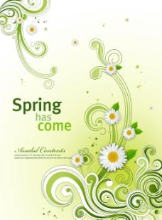 春天绿色装饰图案