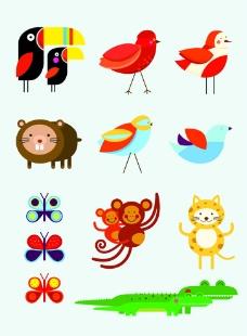 卡通动物矢量素材图片