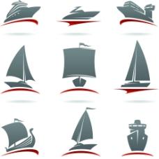 帆船图标图片